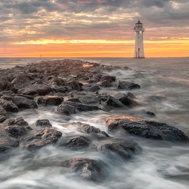 """""""New Brighton Rock"""" stock image"""