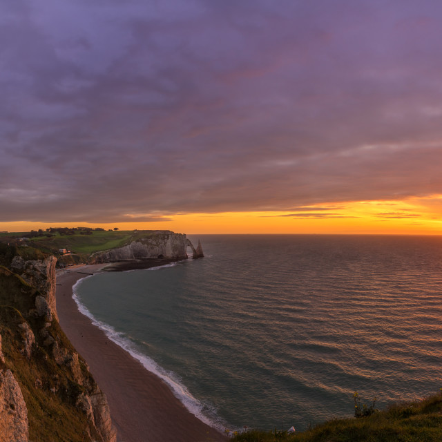"""Sunset in Normandy"" stock image"