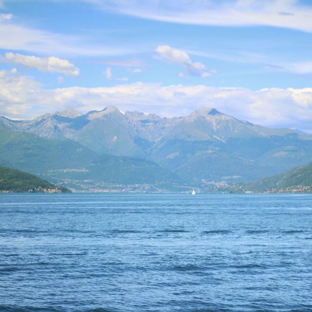 """Lake Como, north face"" stock image"