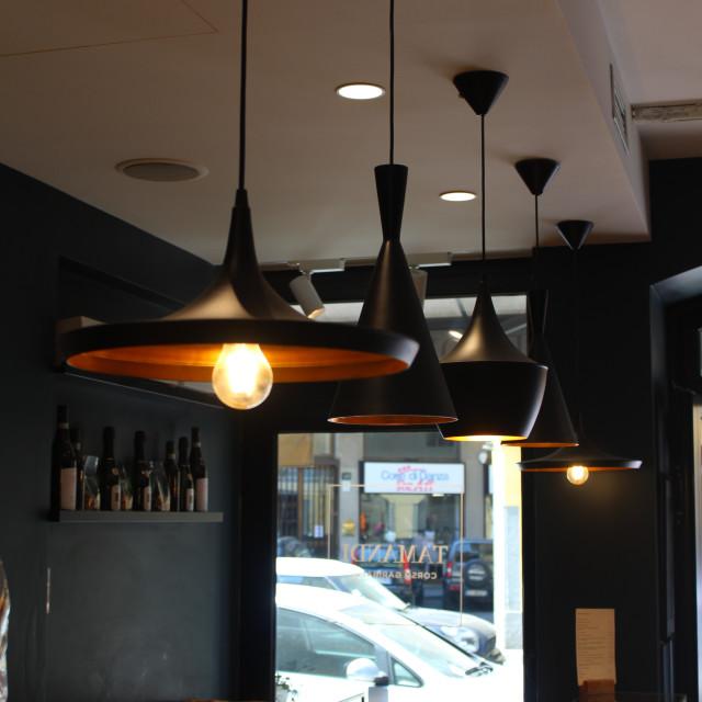 """Hanging Lamps"" stock image"