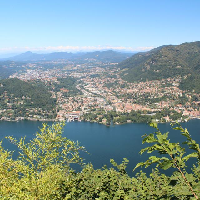"""Lake Como from Brunate"" stock image"