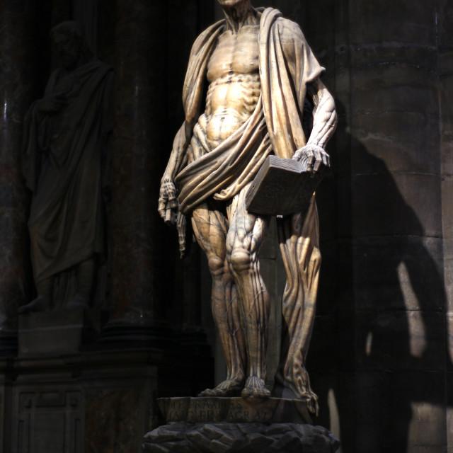 """""""Saint Barthlomoew Apostle, Il Duomo"""" stock image"""