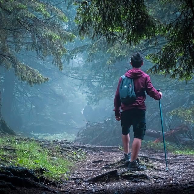 """""""Mountain trip"""" stock image"""