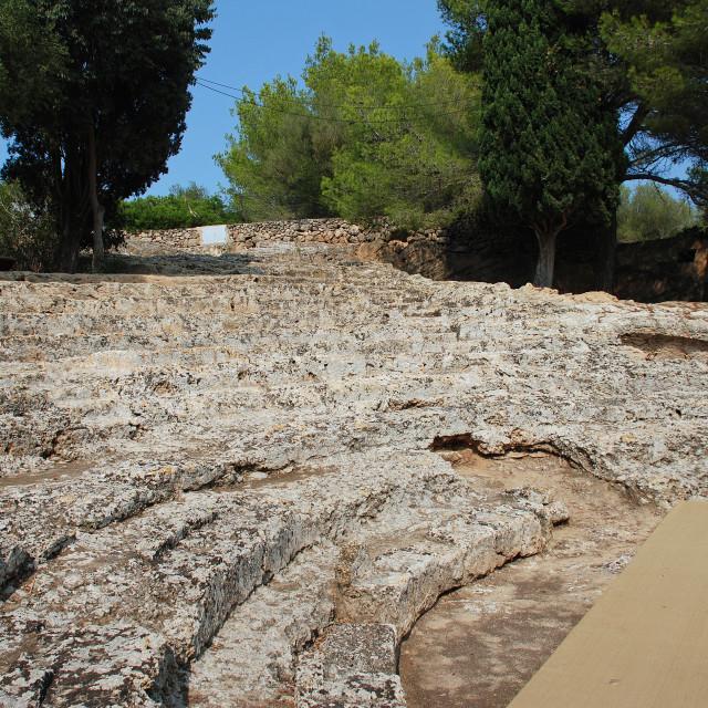 """Roman theatre on Majorca"" stock image"