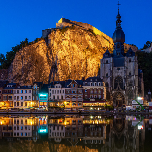 """""""Dinant by blue hour"""" stock image"""