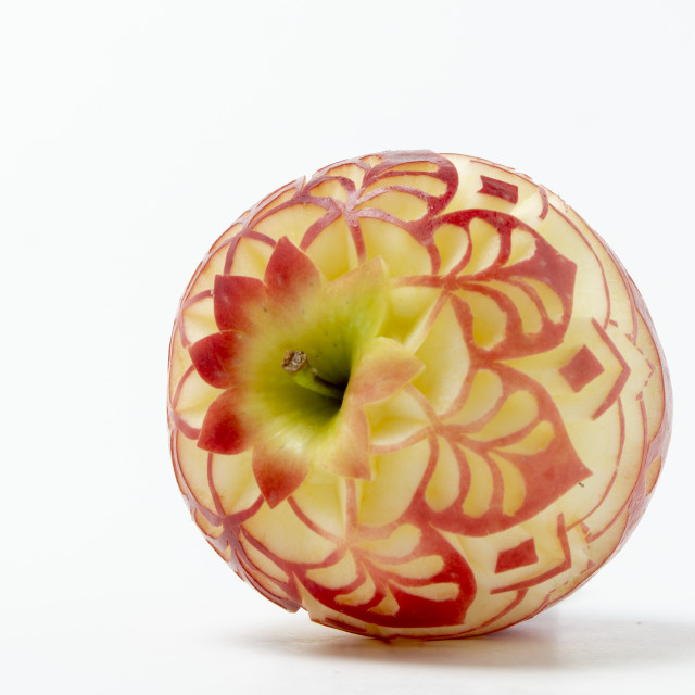 """""""apples carved"""" stock image"""