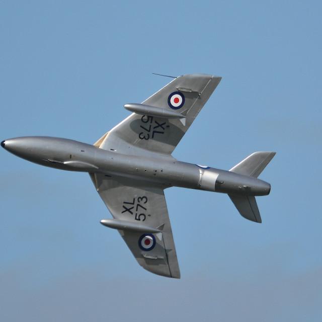 """Hawker Hunter T7 G-BVGH XL573 at Aldergrove ii"" stock image"