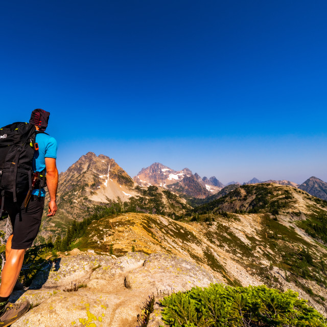 """North Cascades"" stock image"