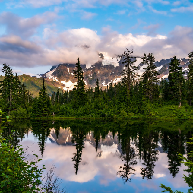 """Mt. Baker National Reserve"" stock image"
