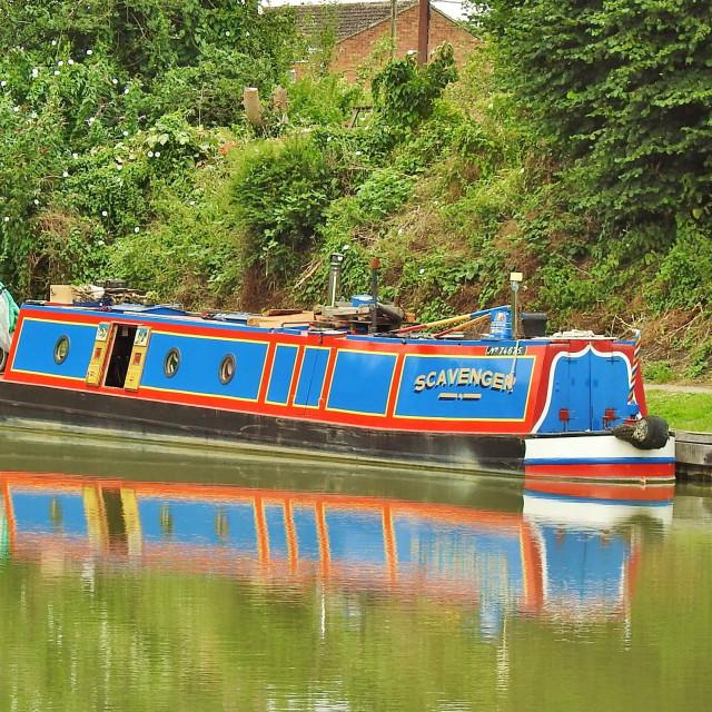 """Narrow Boat to Admire."" stock image"