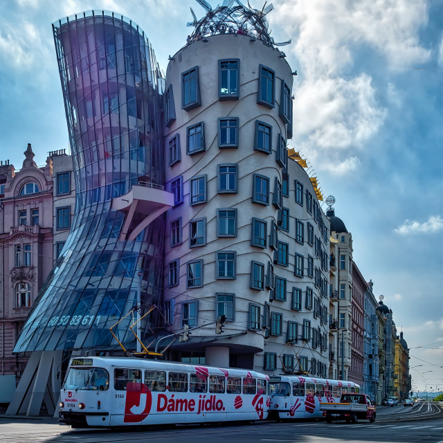"""""""The Dancing House"""" stock image"""