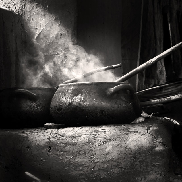 """""""old style cooking"""" stock image"""