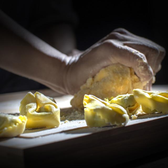 """kneating pasta"" stock image"