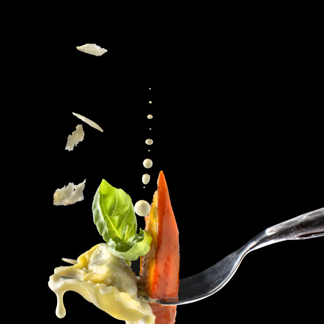 """""""pasta on a fork"""" stock image"""