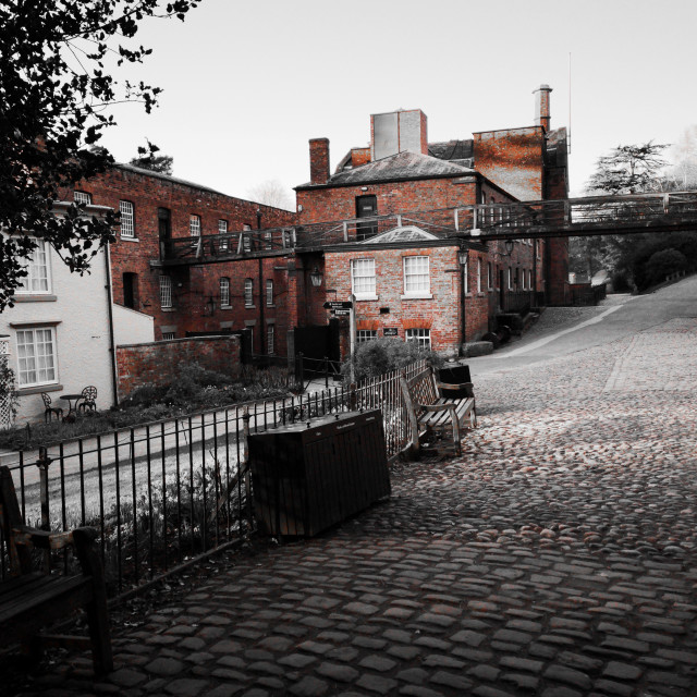 """Quarry Bank Mill Monochrome"" stock image"