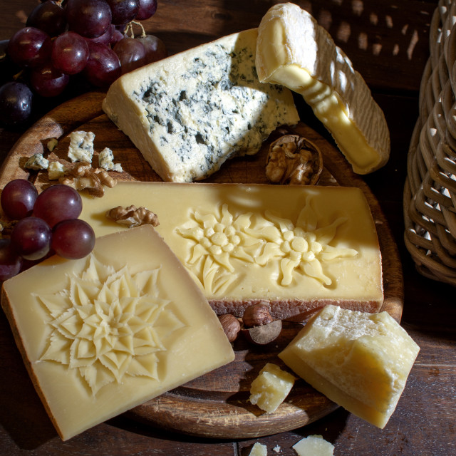 """""""cheese carved design"""" stock image"""