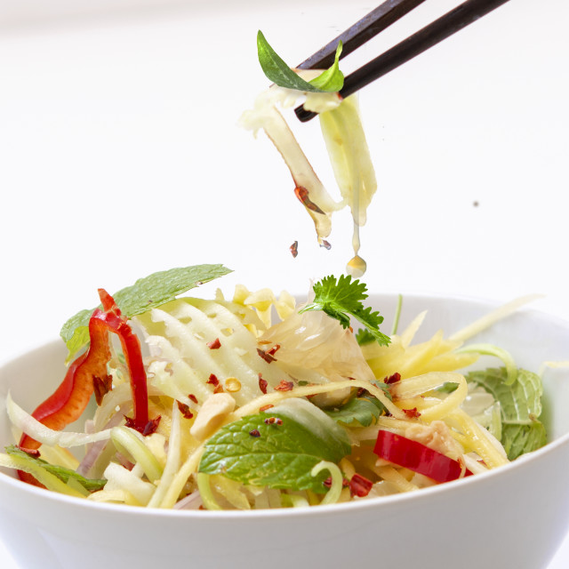 """light asian salads"" stock image"