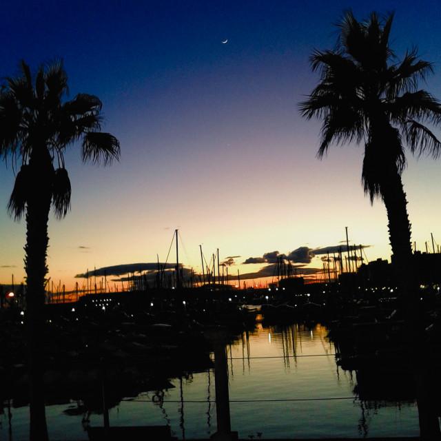 """Alicante Marina Sunset"" stock image"