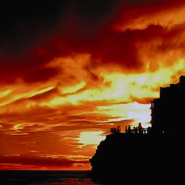 """Benidorm Sunset"" stock image"