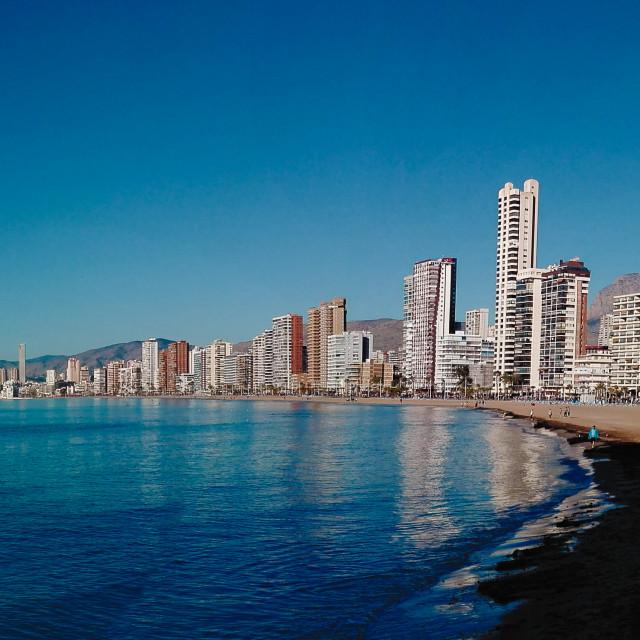 """""""Benidorm Levante Beach"""" stock image"""