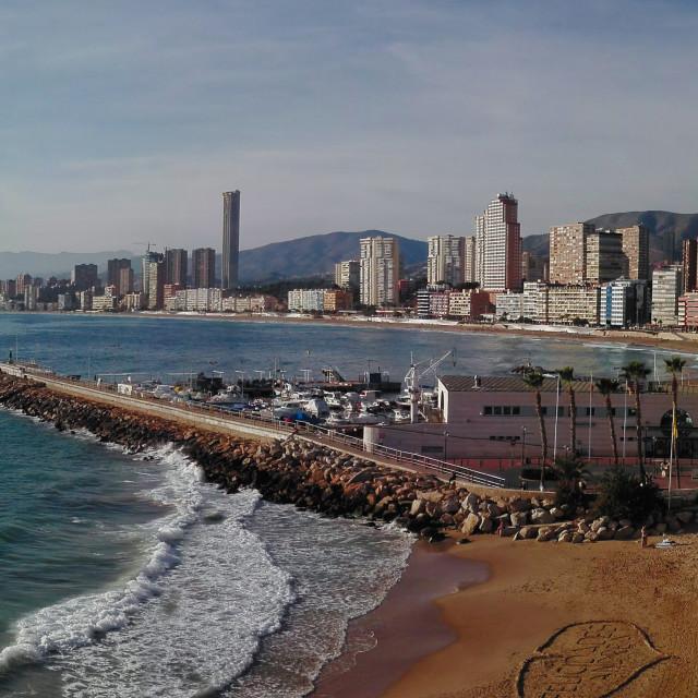 """Benidorm Poniente Beach"" stock image"