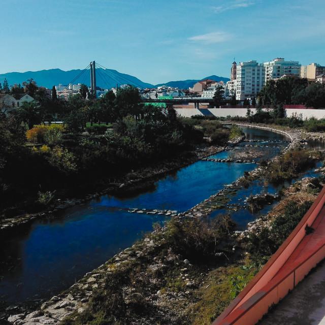 """River Serpis Through Gandia"" stock image"