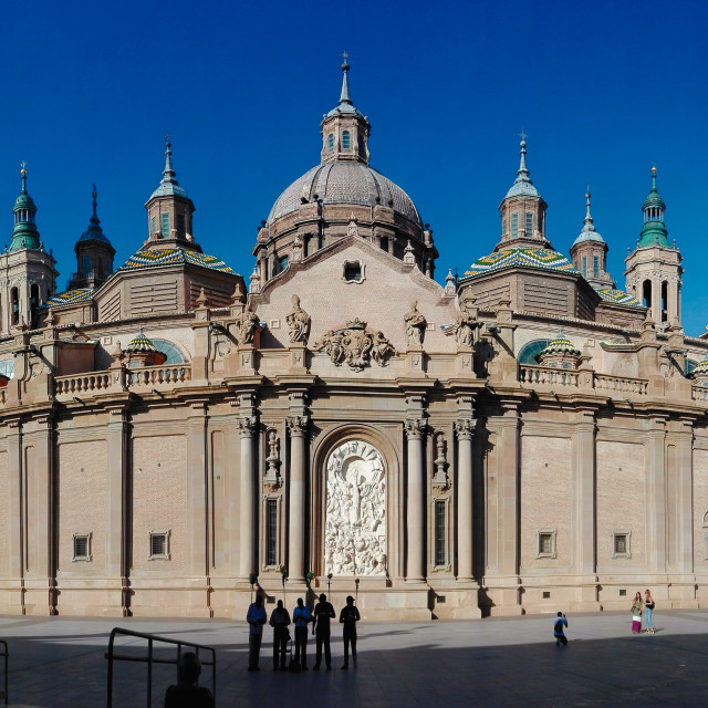 """""""The Cathedral-Basilica of Our Lady of the Pillar"""" stock image"""