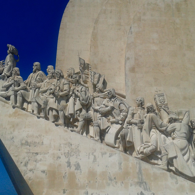"""""""Monument To The Discoveries Side View"""" stock image"""