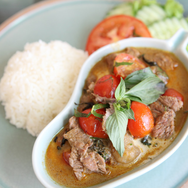 """""""savory curry with beef"""" stock image"""
