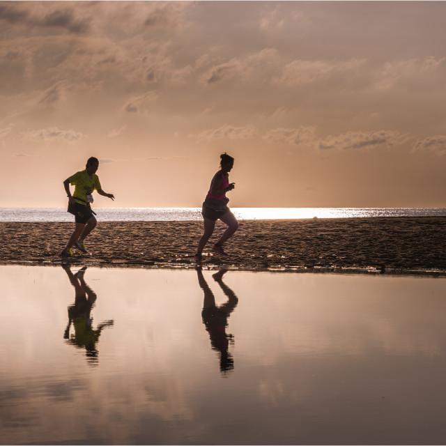 """""""Reflejos en la playa"""" stock image"""