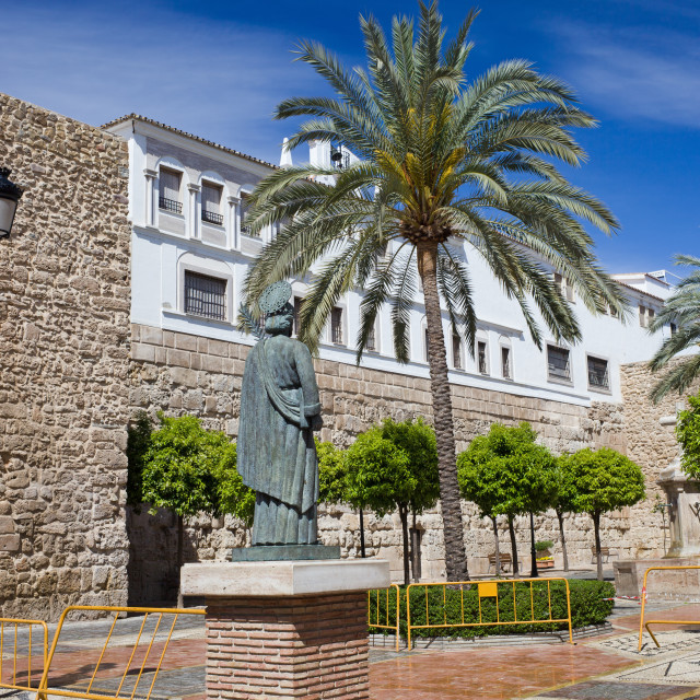 """Plaza de la Iglesia in Old Town of Marbella"" stock image"