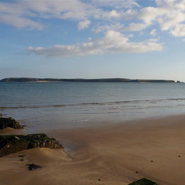 """Caldey Island near Tenby"" stock image"