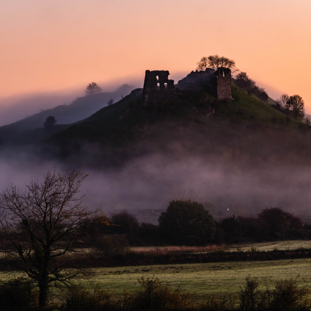 """""""Castle in the Mist"""" stock image"""