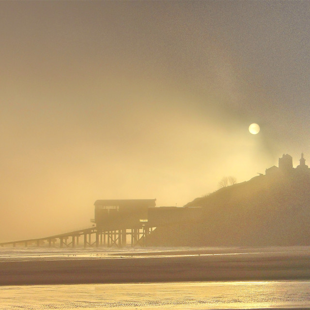 """""""Tenby Morning mist"""" stock image"""