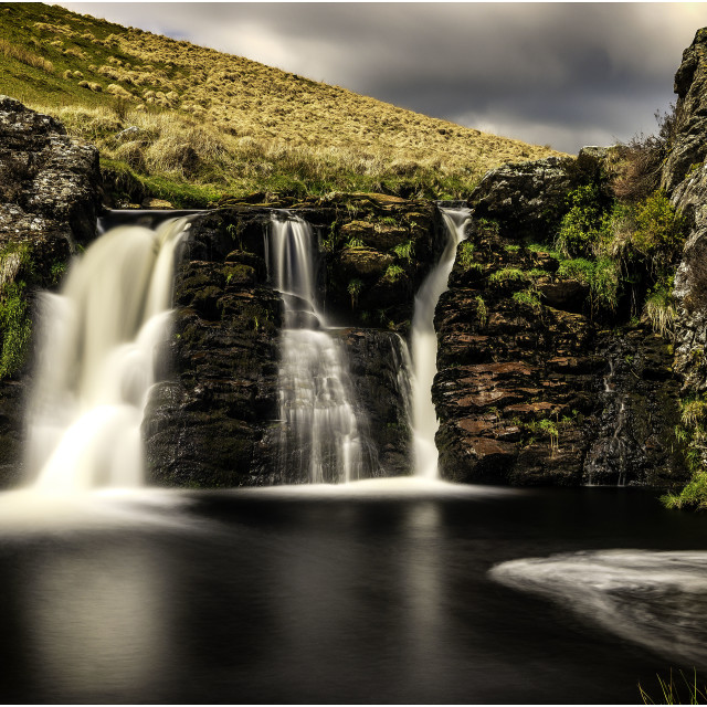 """""""Nantmaen falls"""" stock image"""