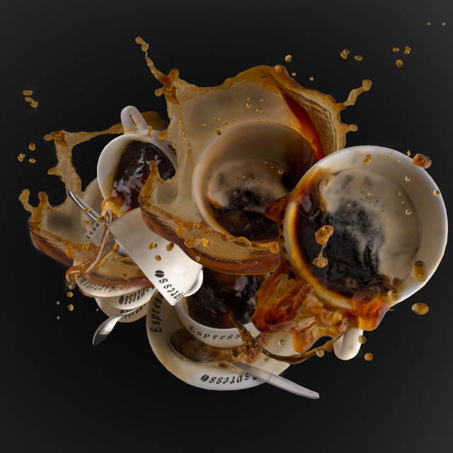 """""""coffee in motion, coffee to go"""" stock image"""