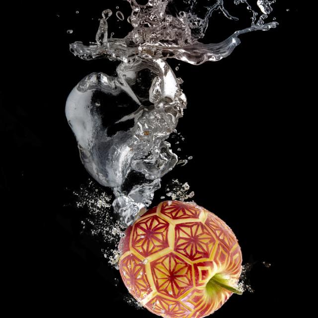"""""""fruit splashes"""" stock image"""