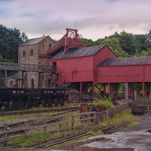 """""""Beamish colliery"""" stock image"""