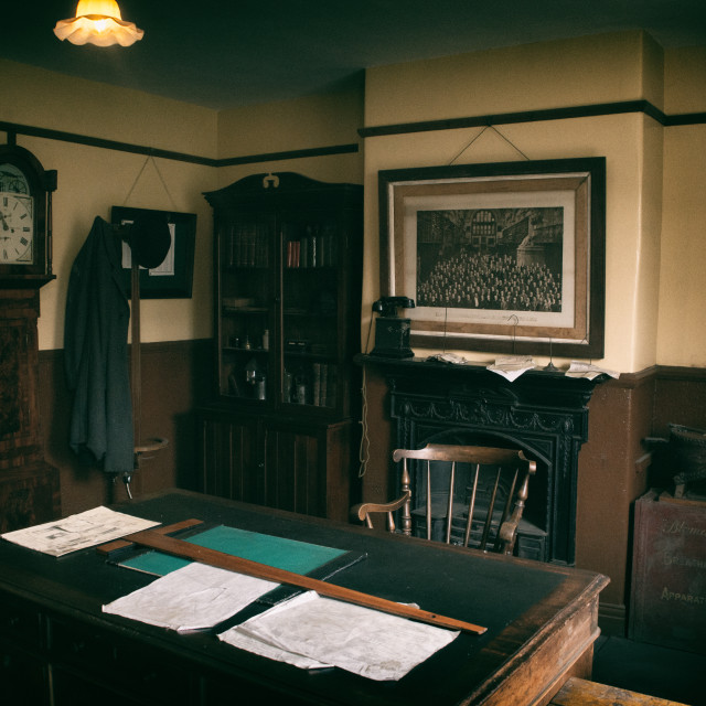 """""""the colliery office at beamish museum"""" stock image"""