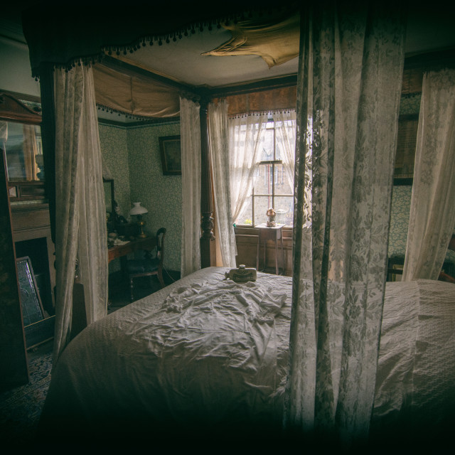 """""""Middle class vintage bedroom"""" stock image"""
