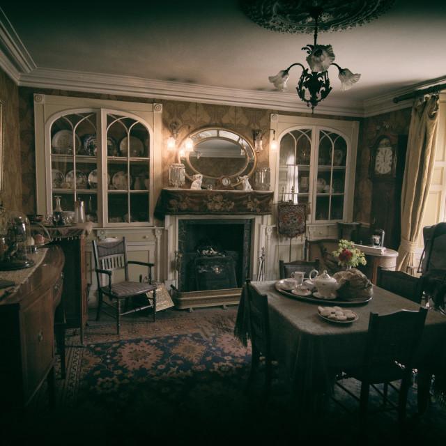 """vintage Dining Room"" stock image"