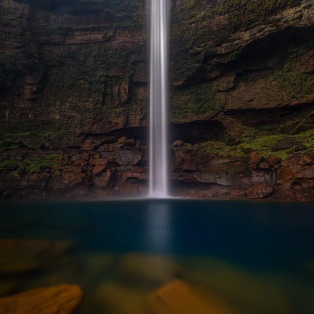 """Jaintia waterfall"" stock image"