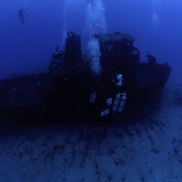 """""""Mergulhadores em um Naufrágio - 3"""" stock image"""