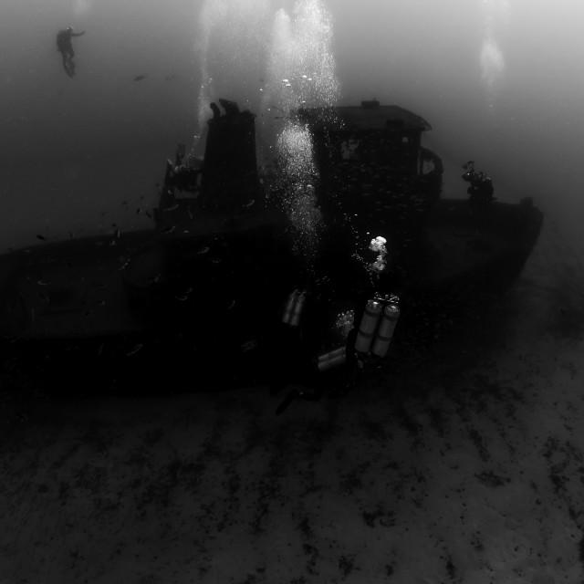 """""""Mergulhadores em um Naufrágio - 4"""" stock image"""
