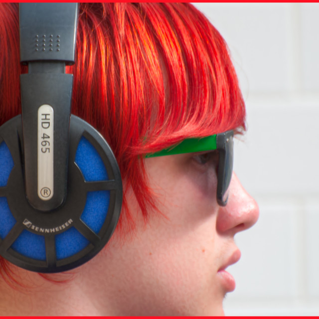 """""""colours and headphones"""" stock image"""