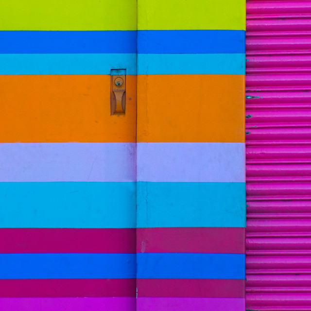 """Patterned Doorway, Santa Cruz Island, Galapagos"" stock image"