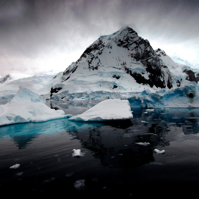 """Charlotte Bay, Antarctica"" stock image"