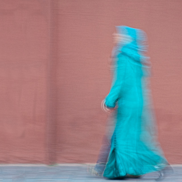 """""""Woman Walking quickly"""" stock image"""