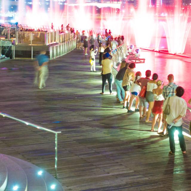 """Pedestrian traveler in Singapore city."" stock image"