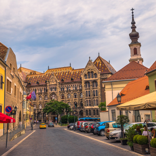 """Budapest - June 22, 2019: Old town of the Buda side of Budapest, Hungary"" stock image"